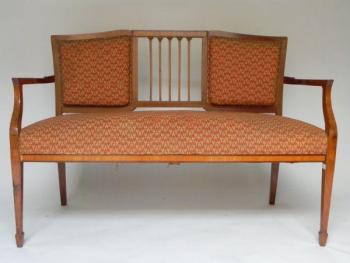 Sofa - walnut veneer, cherry veneer - 1920